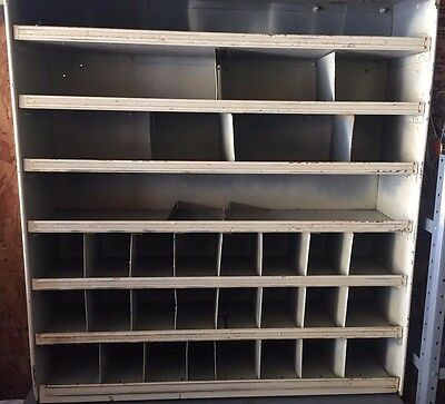 Vintage Metal 33 Pigeon Hole Storage Cabinet Shelves  Shelving Industrial