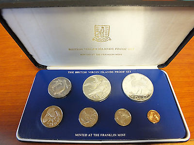 1979 British Virgin Islands PROOF Coin Set - Silver - COA & Case - Franklin AL50