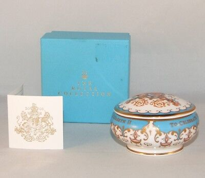 Q. Elizabeth Ii Golden Jubilee English Bone China Pill Box 2002 Royal Collection