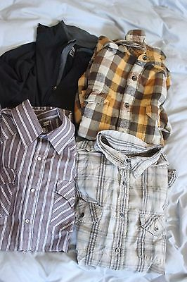 MEN'S LOT OF 4 SIZE LARGE SHIRTS Woolrich The North Face Ely Cattleman Columbia