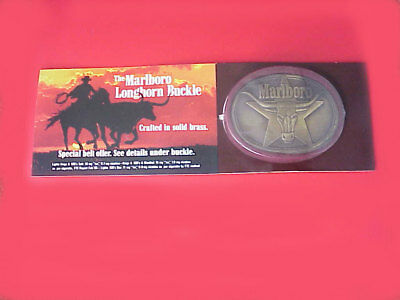 NEW ! Marlboro Longhorn Solid Brass Belt Buckle  by Philip Morris  NEW !