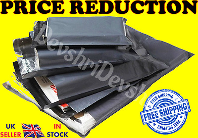 Strong Grey Poly Mailing Postage Postal Bags Quality Self Seal Plastic Mailers