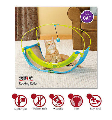 SPORT PET KITTY CITY rocking roller cat activity toy CAT TOY FREE POSTAGE