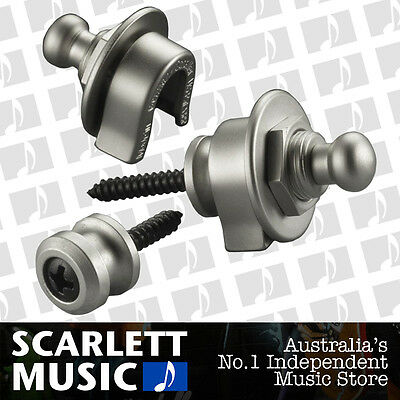 Schaller GENUINE Satin / Matt Pearl Strap Locks For Guitar/Bass *BRAND NEW*