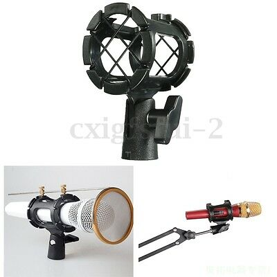Mic Microphone Suspension Shock Mount Clip Holder Stand Studio With Hot Shoe