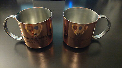 Set of 2 Russian Standard Moscow Mule Copper Mug Cup NEW