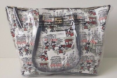 NWT Disney Dooney & Bourke Downtown Mickey & Minnie Shopper Tote SOLD OUT
