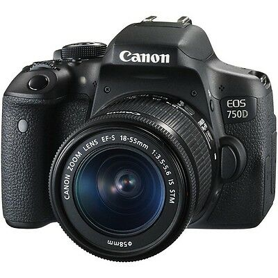 Canon EOS 750D DSLR Camera w/ EF-S 18-55mm f/3.5-5.6 IS STM Lens Kit * UK SHIP