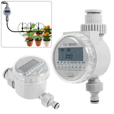 Solar Power Electronic Auto Water Irrigation Controller Digital Water Timer New