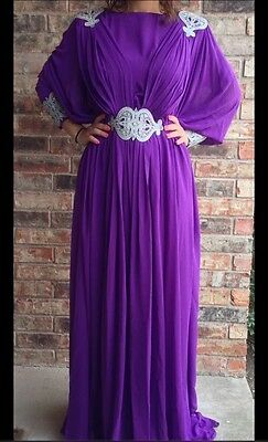 Kaftan Arabian Maxi Middle Eastern Moroccan Style Dress. Matching scarf included