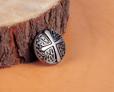 3cm 10pcs DIY Leathercraft Western Ancient  Ghthic Texas Cross Conchos For Belt