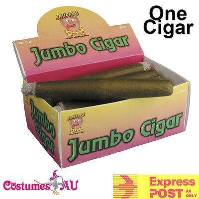 21cm Jumbo Cigar Gangster Fake Joke 20s Trick Smoking Mexican Costume Accessory