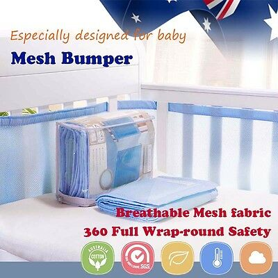 2pcs baby bumpers Cot Crib Air Mesh Pad Breathable Summer Safety Protector Kids