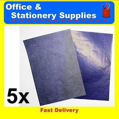 Deli A4 Carbon Paper Blue  5 Pack   39834