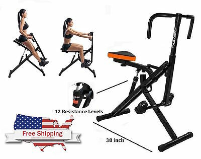NEW Total Full Body Fitness Horse Rider  Abdominal Crunch Machine Ejercita Todo