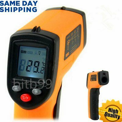 Hot Non-Contact LCD IR Laser Infrared Digital Temperature Thermometer Gun#T@B