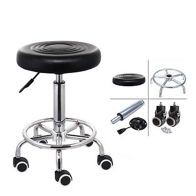 Salon Beauty Hairdressing Barber Therapist Massage Stool Chair Faux Leather Seat