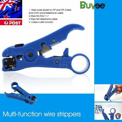 Rotary Coaxial Cable Wire Cutter Plier Stripping Tool RG59 RG6 RG7 RG11 Stripper