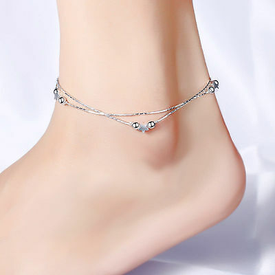 Fashion Women Gold Plated Pendant Anklets Foot Feet Bracelets Chain Leg Jewelry