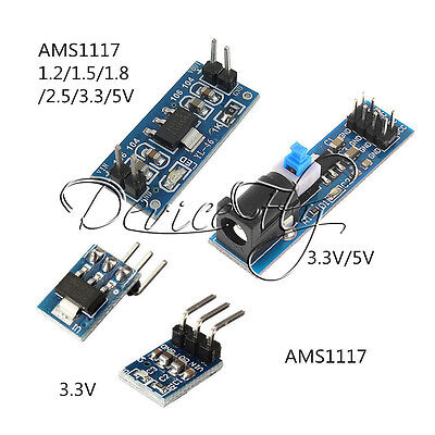 AMS1117 1.2~5V DC Step-Down Voltage Regulator Adapter Convertor Supply Module