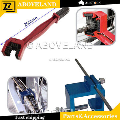 CHAIN SPROCKET ALIGNMENT TOOL + Clearning brush motorcycle dirt bike atv scooter