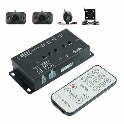 360° Full Parking View With Front/Rear/Right/Left 4 Cameras DVR & Video Monitor
