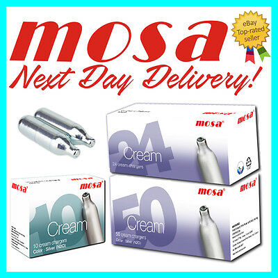 600 MOSA 8g Nitrous Oxide Whipped Cream Chargers NO2 NOS NOZ Cannisters Whipper