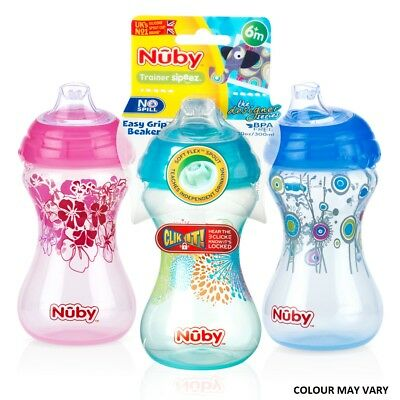 Nuby Designer Series Sipper Cup Spill Proof Baby Flexi Straw Toddler Trainer