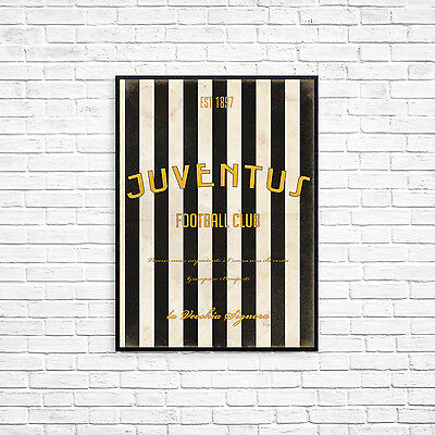 Juventus FC A4 Picture Art Poster Retro Vintage Style Print The Old Lady Serie a