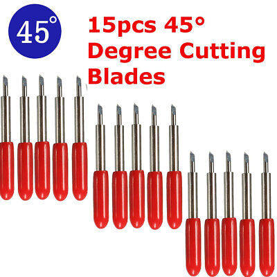 15pcs 45° degree Cutting Plotter Tungsten Blade Carbide for Roland Cutter UK