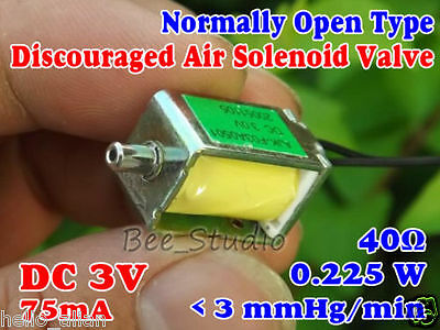DC3V Electronic Solenoid Valve Air N/O Normally Open Type Blood Pressure Monitor