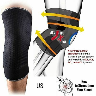 New Knee Recovery Sleeve Copper Compression Tommie Fit Support Brace Unisex UD
