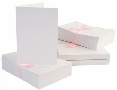 Anita's 100 X A6 Blank Cards And Envelopes - White