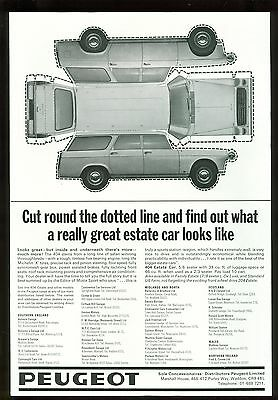 Peugeot 404 Estate B/w Magazine Advert