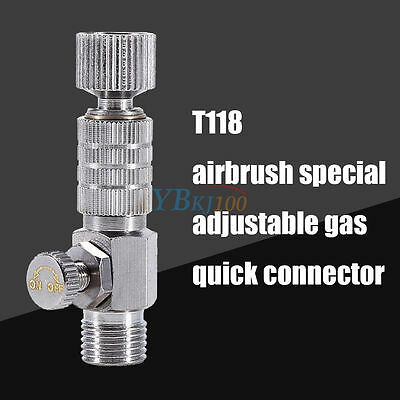 """Quick 1 Airbrush Release Disconnect 1/8"""" Plug Adapter Kit Fitting Air Hose S.S"""