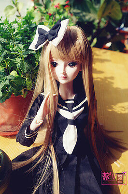 "24"" New 1/3 Handmade PVC BJD MSD Lifelike Doll Joint Dolls Baby Gift New Carrie"