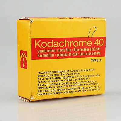 Vintage KODACHROME 40 8mm Color Movie Film Cartridge Type A 15m - Exp 1988 (JZ37