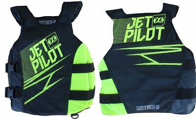 Jetpilot Matrix 3 50N Nylon Vest Side Entry Vest Jetski Weste gelb