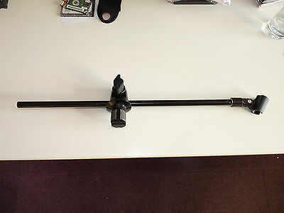 Microphone boom arm to fit keyboard stands or drum racks