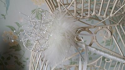 Flower Girl Bridesmaid Wand Heart Star Pearl Crystal Feather Wedding
