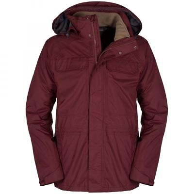 Craghoppers Mens Bateson 3 in 1 OUTDOOR WATERPROOF COAT Jacket Red SMALL