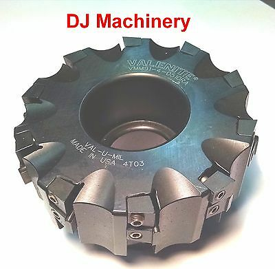 "5"" VALENITE Carbide Indexable Inserts Shell Face Mill Slab Cutter Tool Holder"