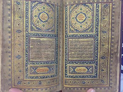 MUGHAL / Persian ILLUMINATED QURAN MANUSCRIPT of 18th century