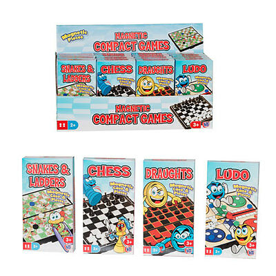 Magnetic Chess Ludo Draughts Snakes & Ladders Travel Board Games Car Camping