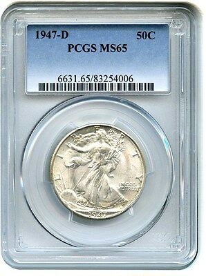 1947-D 50c PCGS MS65 - Walking Liberty Half Dollar