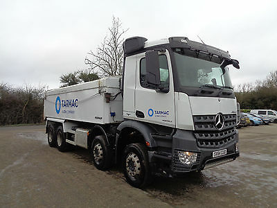 Mercedes-Benz Actros 8x4 insulated alloy body tipper.