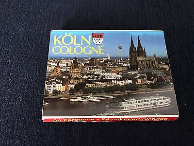 Vintage 24 coloured Pictures Booklet Cologne Germany
