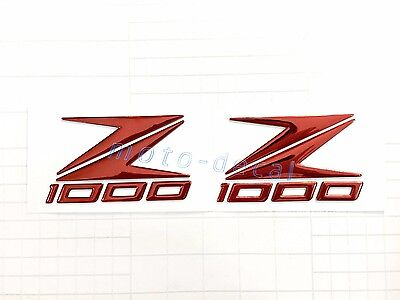 New Z1000 Raised 3D Emblem Chrome Decal Fairing Stickers Z1000 (2012-2014) Bling