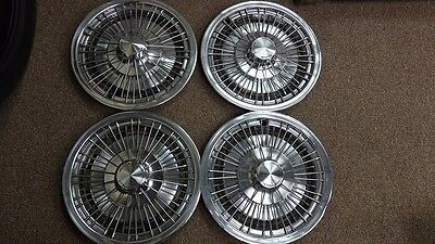 "4  15"" 1971-1976 Chevrolet Caprice Monte Carlo Impala Wire Hubcaps Wheels NOS"