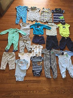 Lot Of Baby Boy Clothes 6-9 Months Summer Carters